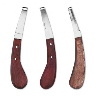 Coltello per zoccolo con manico in legno