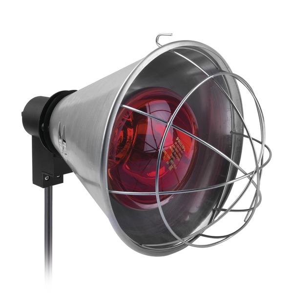 Lampada a luce rossa con supporto