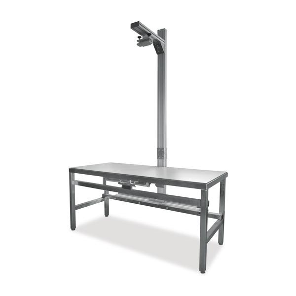Tavolo radiologico con stativo incorporato